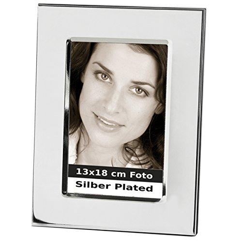 silberkanne Bilderrahmen Milano 13x18 cm Foto mit Hozlrücken Silber Plated versilbert in Premium Verarbeitung