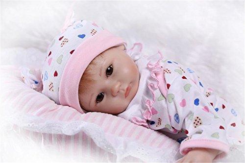 Fachel reborn baby doll realistische baby dollsvinyl silikon babys 18zoll puppe neugeborenes baby doll wie wiedergeboren schnuller - puppe (Magnete Angewandte)