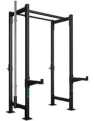 CAPITAL SPORTS Dominate Edition Set 2 Jaula gimnasio musculación acero (4 pilares verticales 228cm, 1 barra doble 108cm, 4 traviesas laterales, 2 brazos seguridad, soporte barra pesas 50mm, 2x gancho J, gran estabilidad)
