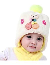 318fecafc0c8 Bonnet hiver pour Bébé Chapeaux bebe Set de 2 pièces Ensemble Echarpe  Sunroyal Calotte Chapeau Bébé Fille Garçon Enfants Bébé…