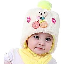 17a8fd3efda Bonnet hiver pour Bébé Chapeaux bebe Set de 2 pièces Ensemble Echarpe  Sunroyal Calotte Chapeau Bébé