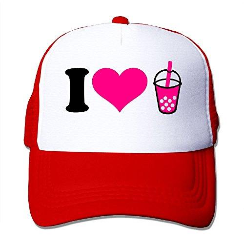 dfegyfr Love Bubble Tea Big Foam Snapback Huts Mesh Back Adjustable Kappen Multicolor30