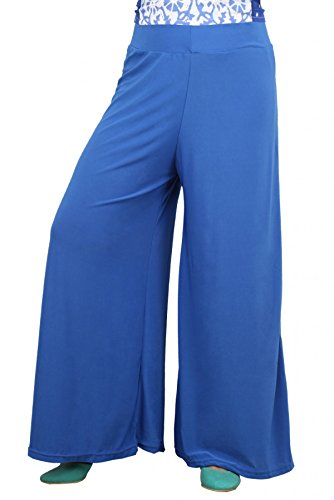 Tara Lifestyle stretchable Designer Plain Casual Wear Palazzo Pant For Women's - Free Size (Dark Sky Blue)  available at amazon for Rs.398