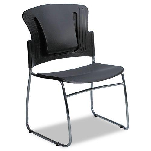 Balt Möbel (Balt Reflex Schlitten Boden stapelbar Besucherstuhl, ergonomische Lendenwirbelstütze, Karton von 4Stühle, schwarz (34428))