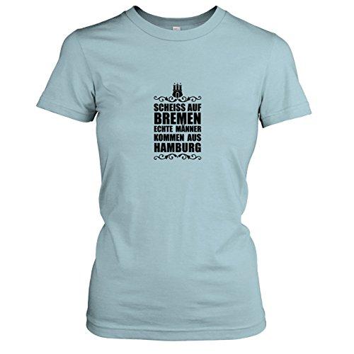 TEXLAB - Scheiss auf Bremen - Damen T-Shirt, Größe M, hellblau
