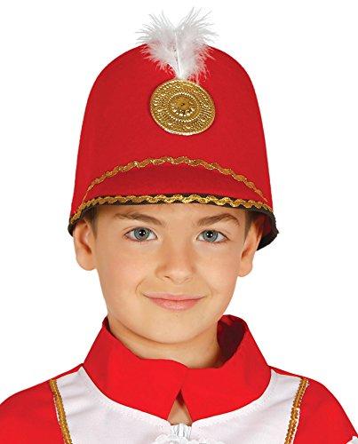 Guirca Roter Hut Kappe Majorette für Kinder Karneval Motto Party Zubehör Musik Corps