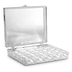aufbewahrungsbox f r garnrollen von g termann aus transparentem acryl f r 25 garnrollen. Black Bedroom Furniture Sets. Home Design Ideas