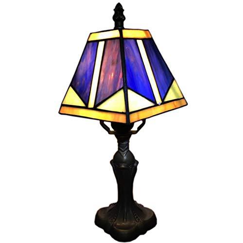 Lámpara de Mesa LED Tiffany Estilo lámparas de Cristal Dormitorio ...