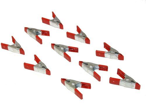 Aerzetix - Kit 10 mini pinze a molla SL3 morsetti pinza morsetto a coccodrillo da falegname 5 cm.