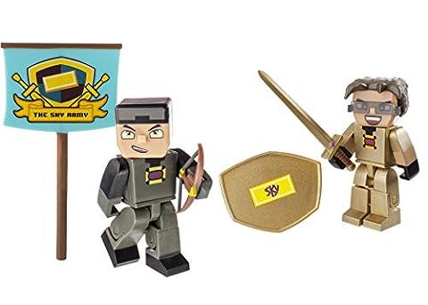 Tube Heroes – Hero Pack – Sky – 2 Figurines Articulées 7 cm + Accessoires