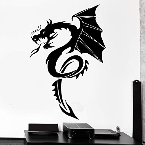 Drachen Mythos Wandtattoo Film Fantasie Wandaufkleber Kinderzimmer Monster Cool Boy Zimmer Wohnkultur Kunstwand Poster 42x63 cm