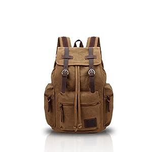 41o Cmn80GL. SS300  - FANDARE Vintage Mochila de Lona Bolsa Escolar Mochilas tipo casual Canvas Daypacks Bolsos Mochila para Hombre Mujer…