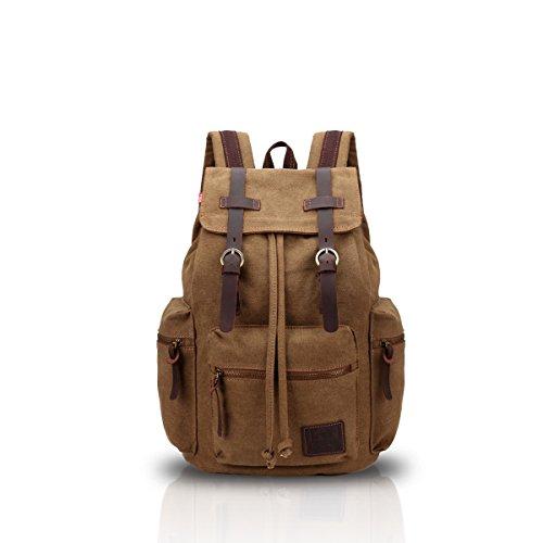 Imagen de fandare  de senderismo daypacks computadoras laptop  satchel bookbag alpinismo multi función vintage bolsa de tela marrón