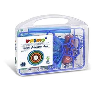 PRIMO 2901BOY - Juego de 5 Piezas de abono Suave de 100 g, Colores Surtidos, con Accesorios y Formas de Modelado, en Caja de Polipropileno