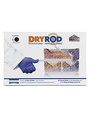 Dryrod Hochleistungs - Horizontalsperre (DPC), Paket mit 50 Stäbchen von 18cm Länge