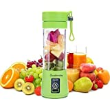 NUTRAEASE Rechargeable Portable Electric Mini USB Juicer Hand Machine Bottle Blender Drink Bottle Cup for Making Juice, Shake, Smoothies, Travel for Fruits and Vegetables (Multicolour)