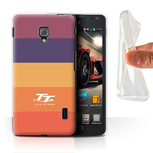 Isle of Man TT Offiziell Hülle/Gel TPU Case für LG Optimus F6 / Lutscher Muster/Eleganz Kollektion (F6 Lg Handy Case)