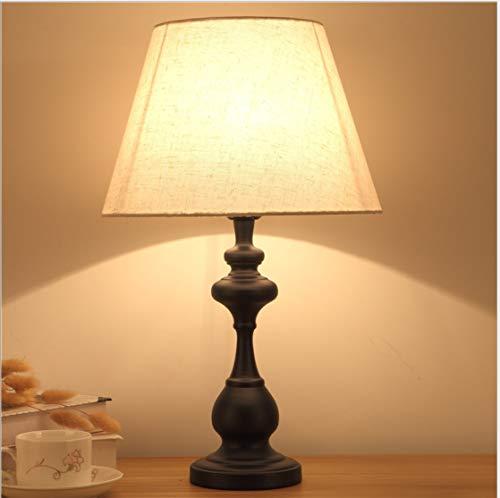 Lampe de table chambre lampe de chevet créatif simple moderne en fer forgé gradation lampe de table de chevet chaude 50cm de haut
