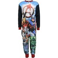 """Marvel Avengers """"A"""" Boys Fleece One Piece Sleepsuit"""