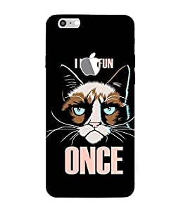 FUSON I Had Fun Once 3D Hard Polycarbonate Designer Back Case Cover for Apple iPhone 7 (Logo View Window Case)