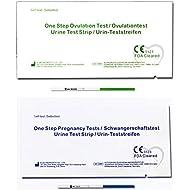 One Step - 40 Tests de Ovulación 20 mIU/ml y 10 Pruebas de Embarazo 10mIU/ml - Nuevo Formato Económico de 2,5 mm.