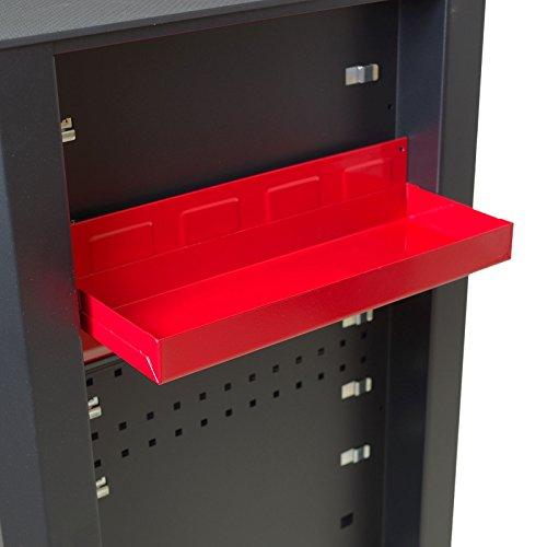 Werkzeugablage magnetisch 31x11,5cm rot Metall Ablage Zubehör Werkstattwagen