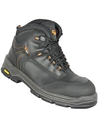 Ecotech - Chaussures De Protection Homme Noir Noir En Cuir, Couleur Noir, Taille 40 Eu