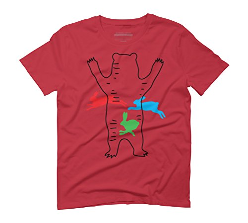 Magic Bear #01 Men's Graphic T-Shirt - Design By Humans Red