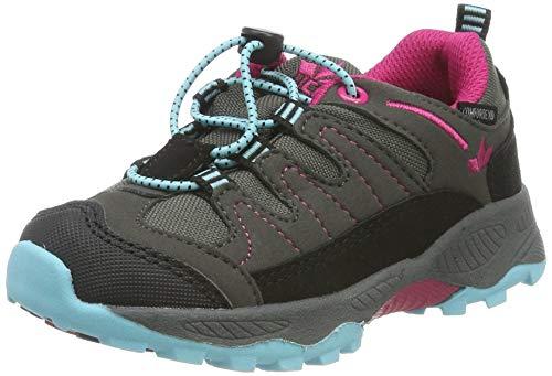 Lico Norfolk Low, Chaussures de Randonnée Basses Fille, Gris Grau/Pink/Türkis, 35 EU