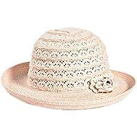 Leisial Sombrero de Paja Mujer Topper Sombrero Gorro de Playa Protector  Solar Gorro de Sol para b3949f7694f