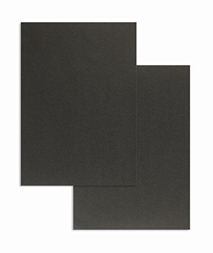 Blanke Briefhüllen, Farbiges Briefpapier, 100 Stück, DIN A4, 80 g/qm Colorista, Schwarz