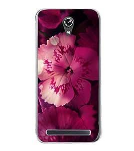 PrintVisa Hibiscus Pink Flower High Gloss Designer Back Case Cover for Asus Zenfone Go ZC500TG