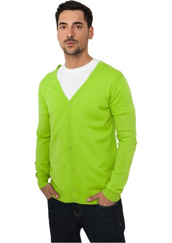 URBAN CLASSICS Knitted Cardigan, lime green Lime Green