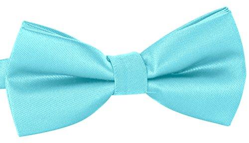 BomGuard Fliege für Herren pastellblau I Männer Fliege für Hochzeit, Party oder edele Anlässe I Trendy Bow Tie I 3er Set Schleifen Weiß Bow Tie Set