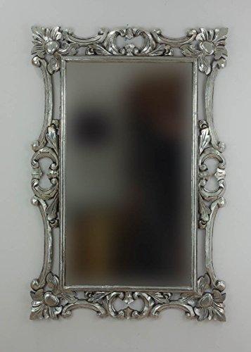 Rococo Espejo Decorativo Madera Eiffell 120x80 Plata
