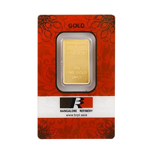 Bangalore Refinery 10 gm, 24k (999.9) Yellow Gold Bar