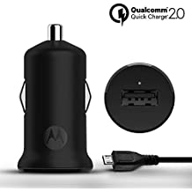 Motorola Turbo Power 15W Qualcomm 2.0 Quick Charge Car Charger (Black)