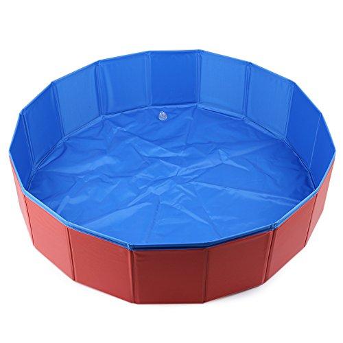 Pool für Hunde, 32'' x 8'' Pool hund, Faltbar Hund Badewanne