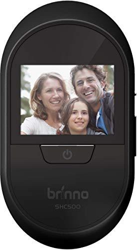 Brinno SHC500K – con Sensor de golpeo – a Prueba de Robo – fácil instalación – Imagen Clara – sin Cable – Registro de visitantes Digital – Cámara Inteligente de Mirilla en casa, 2,7 Pulgadas, Negro