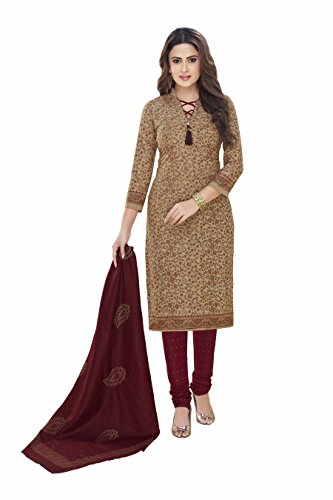 Miraan Printed Unstitched Cotton Dress Material And Churidar Suit For Women (2307)