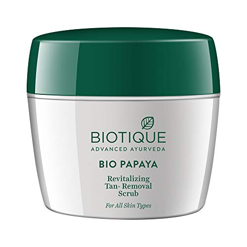 Biotique Bio Papaya Revitalizing Tan-Removal Scrub for All Skin Types, 235g