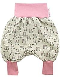 Kleine K/önige Pumphose Baby M/ädchen Hose /· Modell Anker grau rosa /· /Ökotex 100 Zertifiziert /· Gr/ö/ßen 50-128