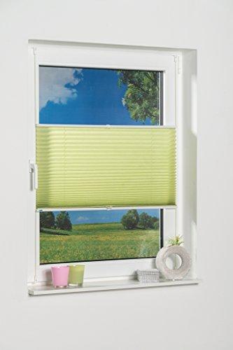 K de Home Wohn-Guide Klemmfix – Store plissé Palma 45 x 130 cm (L x l), Polyester, Vert, 130 x 45 cm