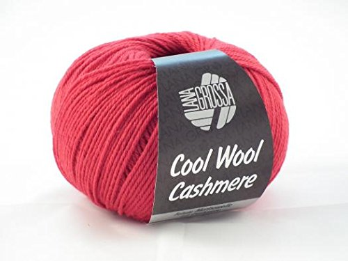 Lana Grossa Cool Wool Cashmere 005 Rot 50g (Wolle 10% Cashmere)
