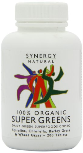 Synergy Natural Organic Super Greens - Pack of 200 Tablets Test