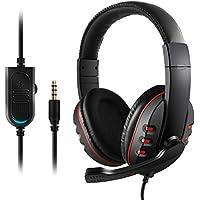 Etpark Gaming Headset mit Mikrofon, 3.5mm Surround Sound Over-Ear-Kopfhörer für PS4 Xbox One PC Laptop Tablet Mobile Phones