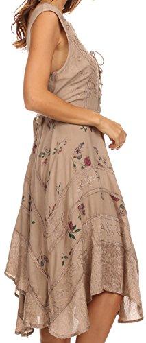 Sakkas Calliope Robe Style Corsage Taupe