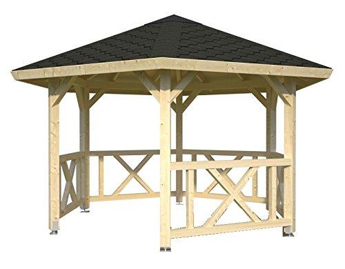 Cenador de madera Pergola enrejado tettoia Pabellones de madera de jardín–M² 9,9