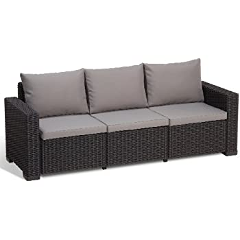 Amazonde Allibert Lounge Sofa California 3 Sitzer Graphitcool Grey