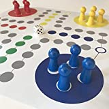 Riesen Ludo. Brettspiel extra groß. Großer Spielplan, große Spielfiguren. BES. für Senioren, Kindergärten, Veranstaltungen. (L)
